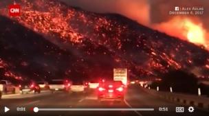 カリフォルニア山火事(cnn)