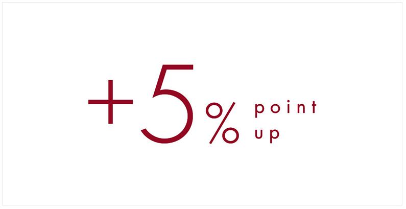 エストネーション+5%ポイントアップ