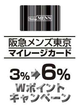 阪急メンズ東京Wポイントキャンペーン