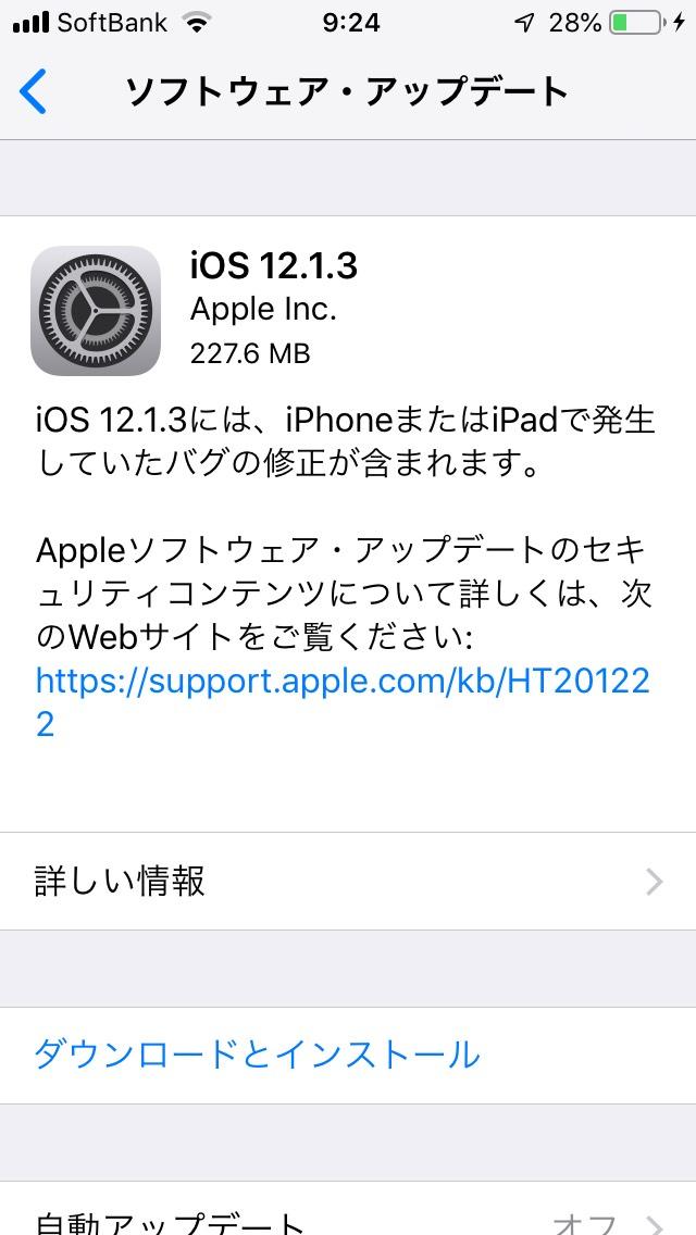 iOS12.1.3