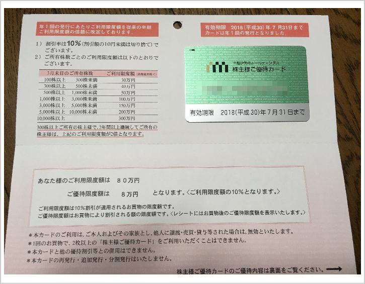 三越伊勢丹株主優待4