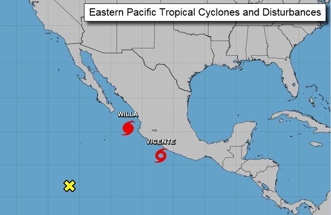 ハリケーンウィラとビンセンテ