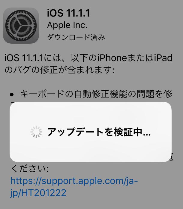 iosアップデート手順7